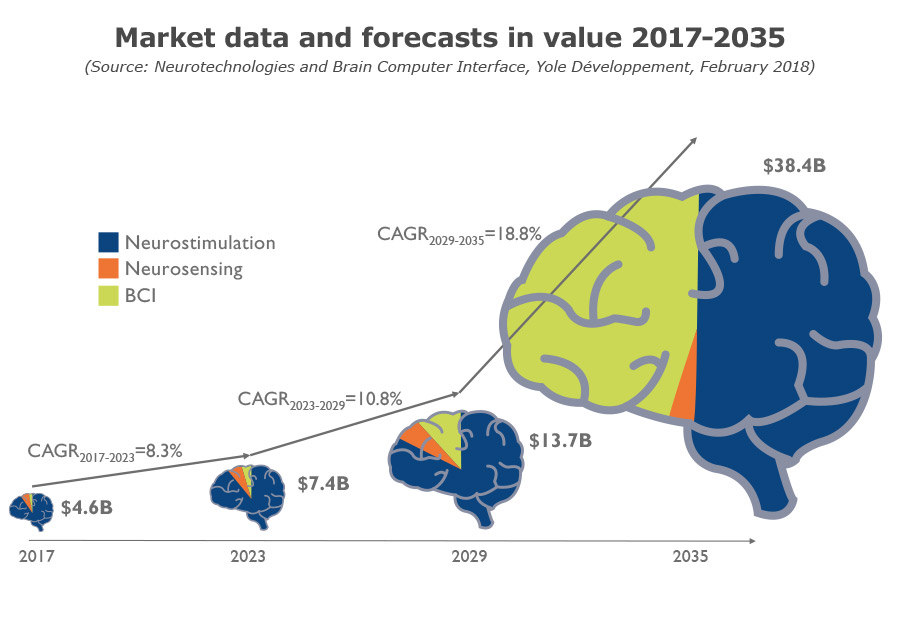 Market data and forecasts in value 2017-2035