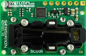 Sensirion SCD30 CO2 gas sensor - external views