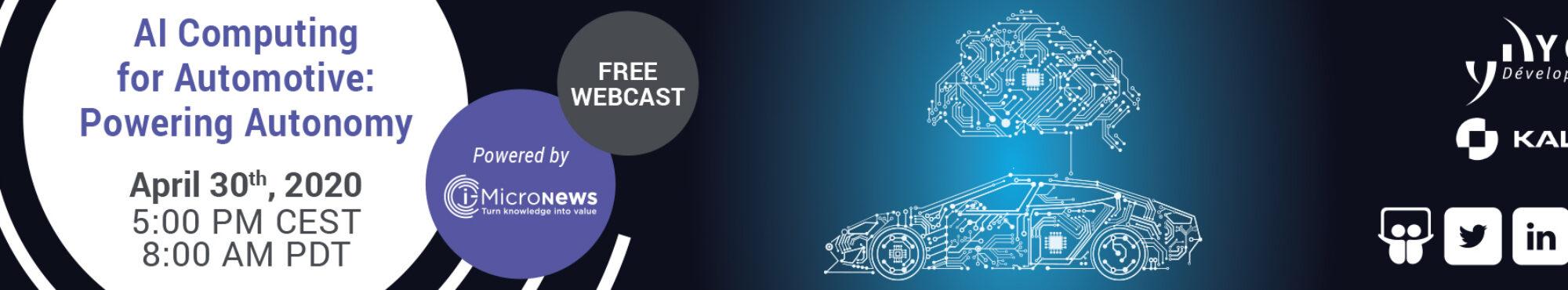 AI Computing for Automotive Powering Autonomy 2000x370