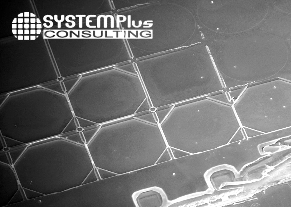 Butterfly Network iQ top electrode SEM View - System Plus Consulting