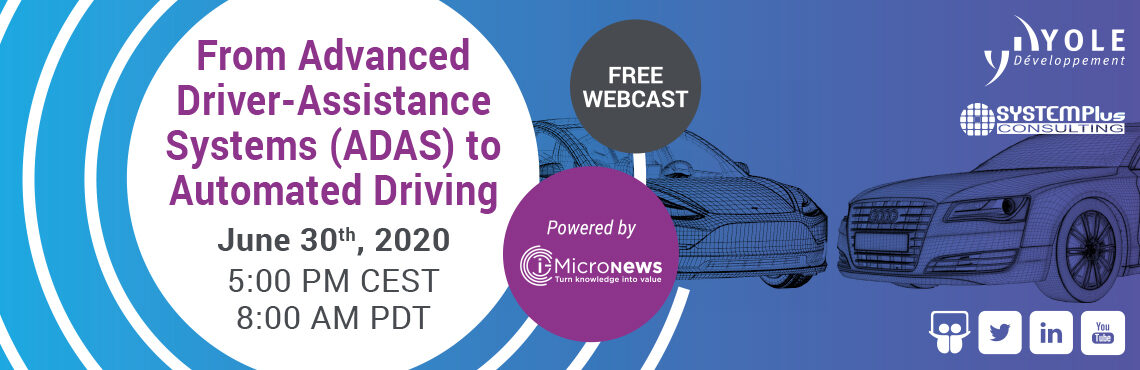 Webcast From ADAS to Automoted Driving - Yole Développement