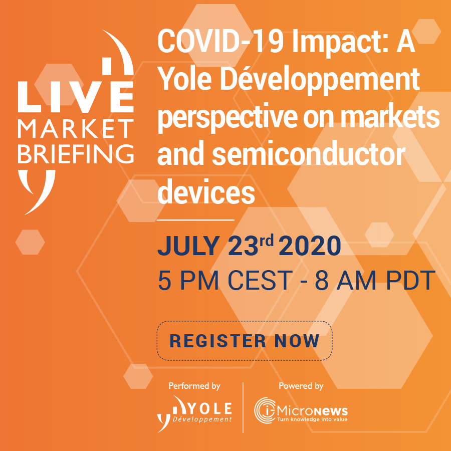 COVID19 impact semiconductor market 2020 Yole Developpement