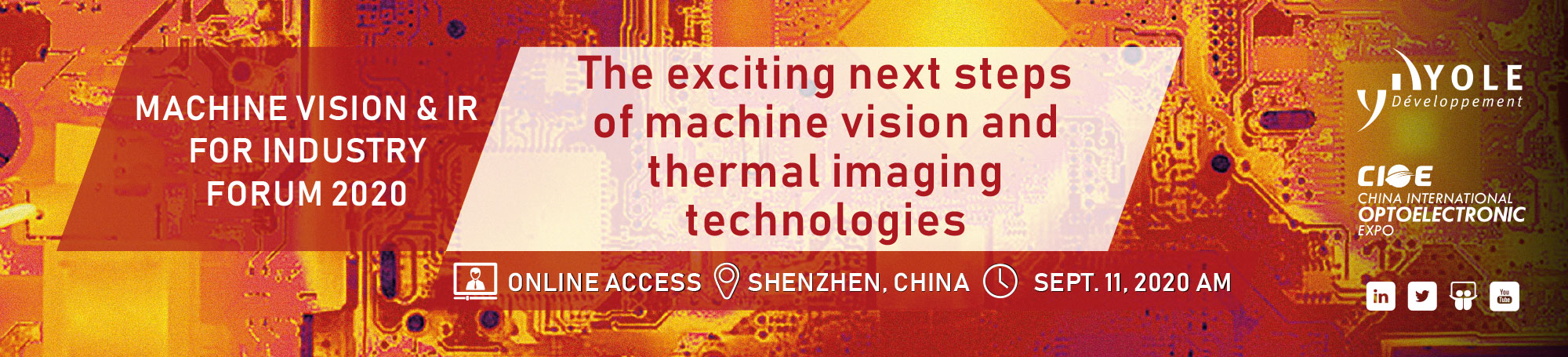 Machine Vision & IR for Industry Forum 2020
