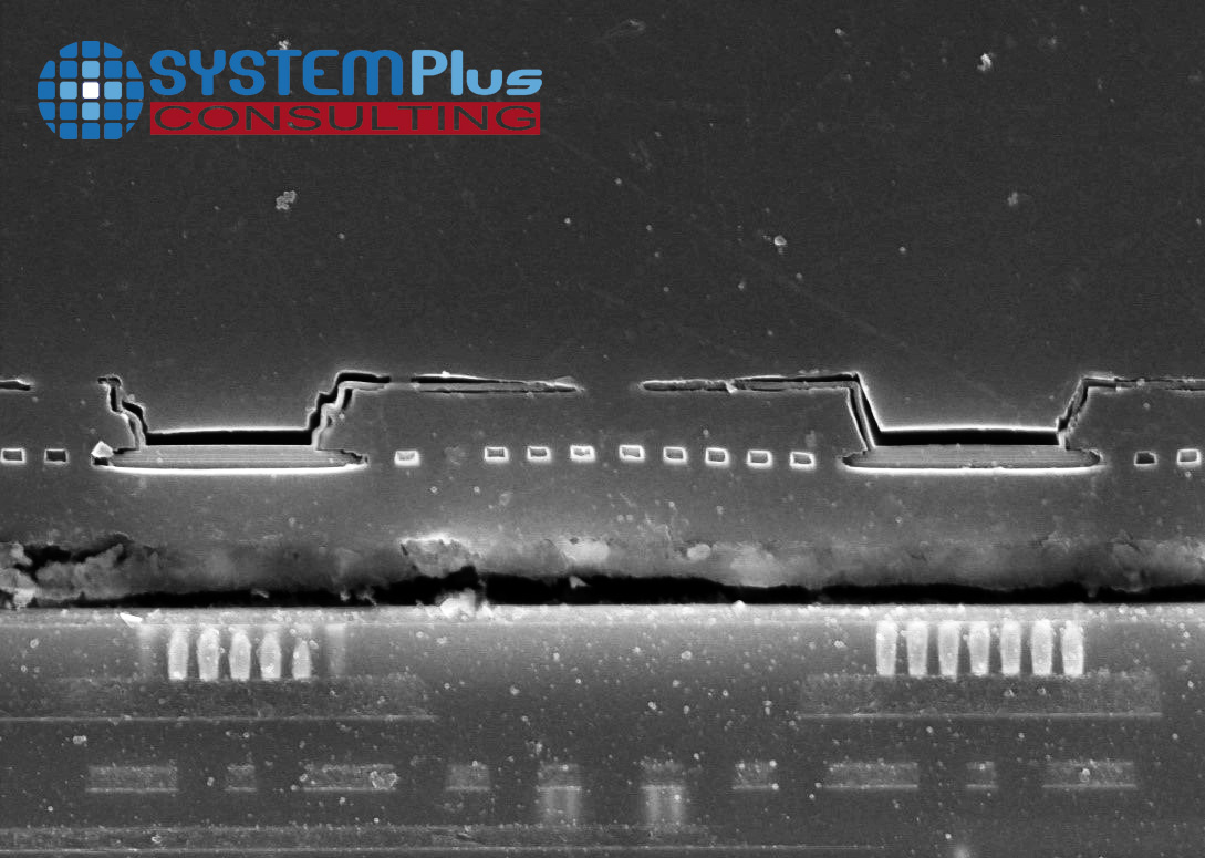 iRay 17µm microbolometer cross-section – SEM view