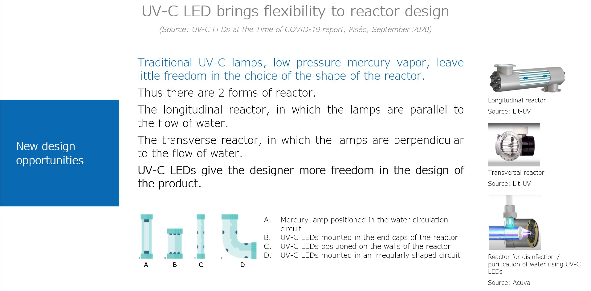 UV-C LED brings flexibility to reactor desgin_Piseo