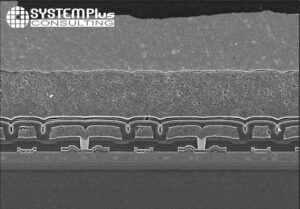 EPC2152 Half Bridge Monolithic GaN IC - Die cross section SEM view - System Plus Consulting