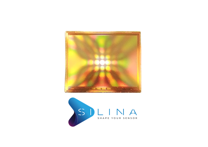 Curved CMOS image sensors in a freeform shape with SILINA process