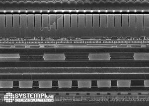 Camera Module Comparison 2021 Vol.1 - Rear telephoto module image sensor cross-section SEM P40 Pro - System Plus Consulting