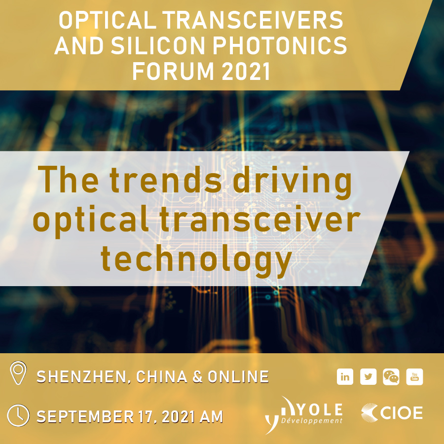 Optical Transceiver Silicon Photonics 2021 Yole CIOE_900x900