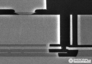 Mobile Inertial Sensors Comparison 2021 - Bosch MEMS Cross-Section SEM View (iPhone X) - System Plus Consulting
